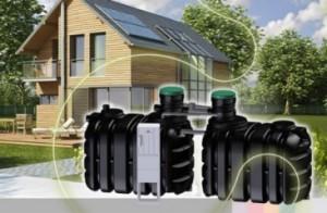 przydomowe oczyszczalnie ścieków widoczne zbiorniki oczyszczalni hybrydowej gotowej do montżu